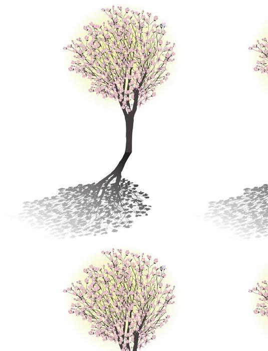 Tapeta Pixerstick Magnólie květ strom se stínem - Nálepka na stěny