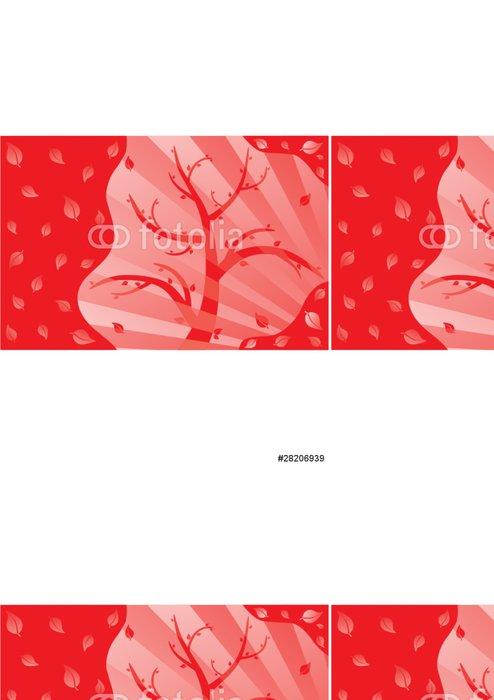 Vinylová Tapeta Mahagon - Roční období