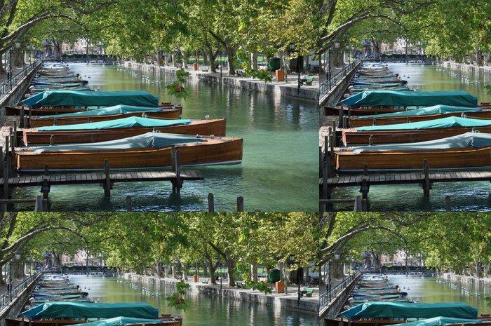 Tapeta Pixerstick Mahagonového dřeva loď - Prázdniny
