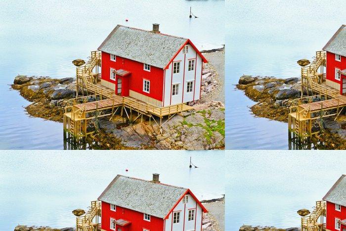 Tapeta Pixerstick Maisons des Iles Lofoten - Evropa