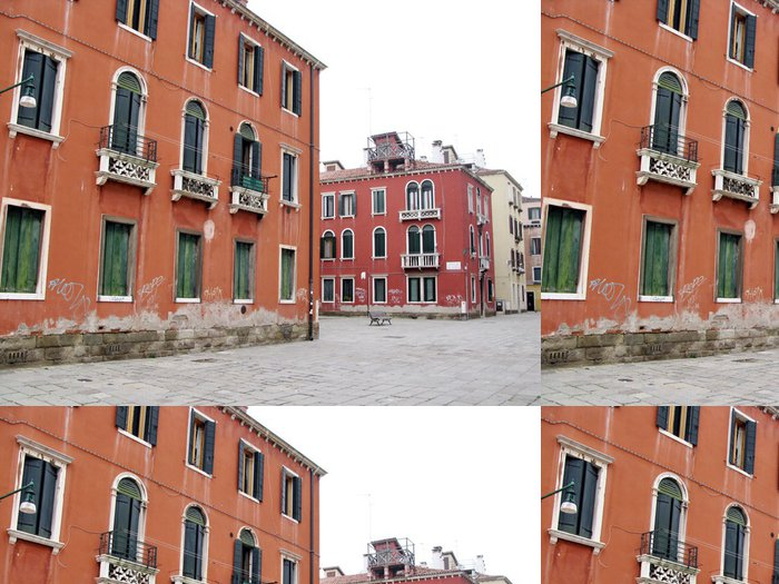 Tapeta Pixerstick Maisons Ocres et rtěnky, Venise, Italie - Evropská města
