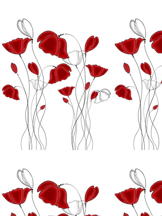 Tapeta Pixerstick Mák - Květiny