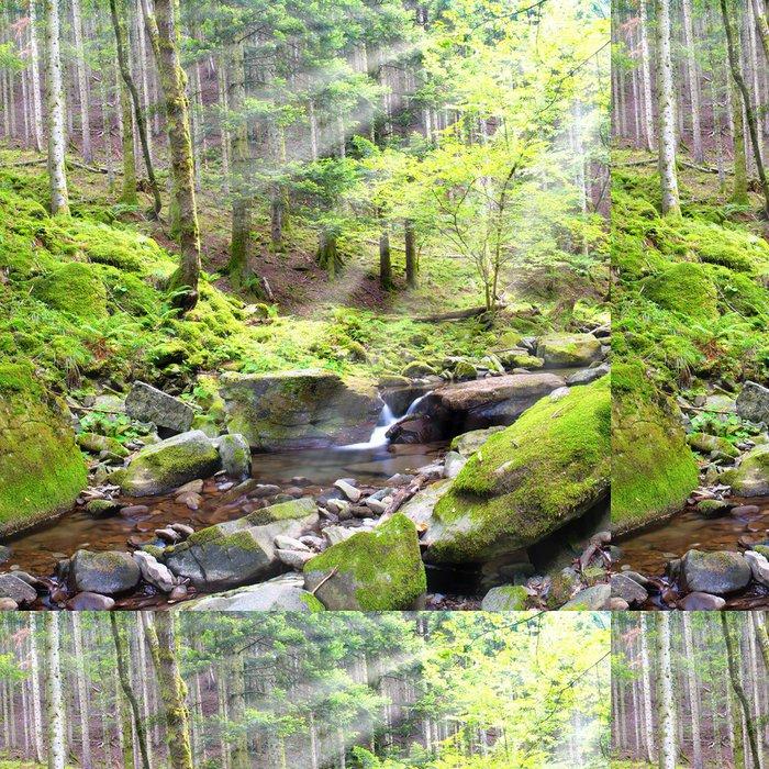 Tapeta Pixerstick Malá řeka s několika vodou v lese - Voda