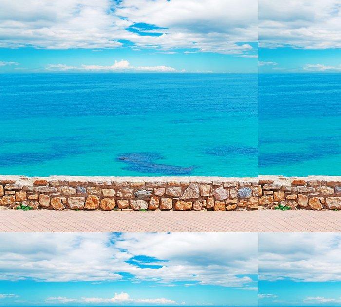 Tapeta Pixerstick Malá stěna a mraky - Evropa