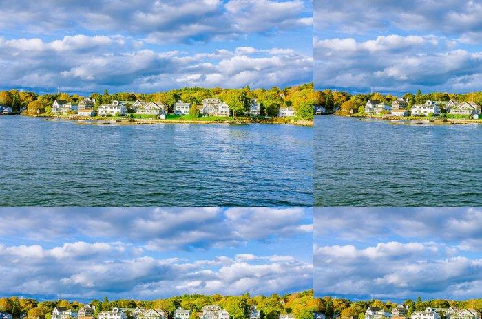 Tapeta Pixerstick Malá vesnice na pobřeží Maine - Město