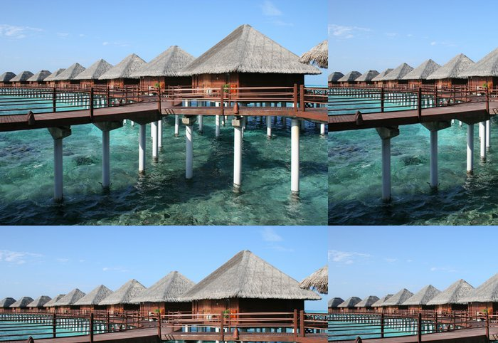 Tapeta Pixerstick Maldives Water Villas - Asie