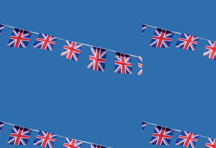 Tapeta Pixerstick Malé britské Union Jack oslavu vlajky. - Značky a symboly