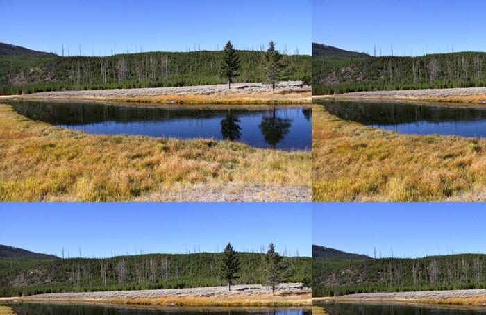Vinylová Tapeta Malebná krajina v Yellowstone národním parku - Roční období