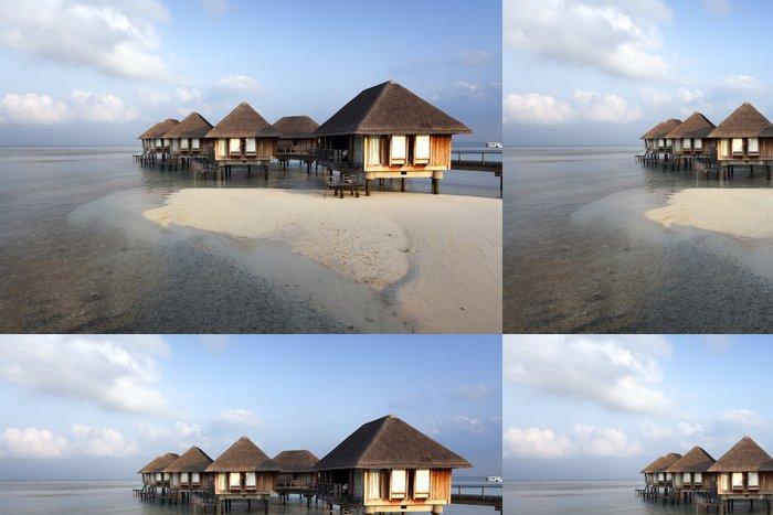 Vinylová Tapeta Maledivy vila - Město