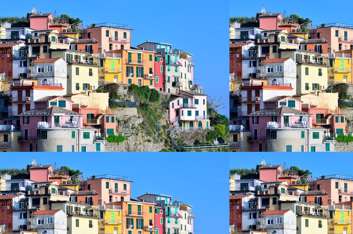 Vinylová Tapeta Manarola, Itálie - barevné rybářská vesnice - Evropa