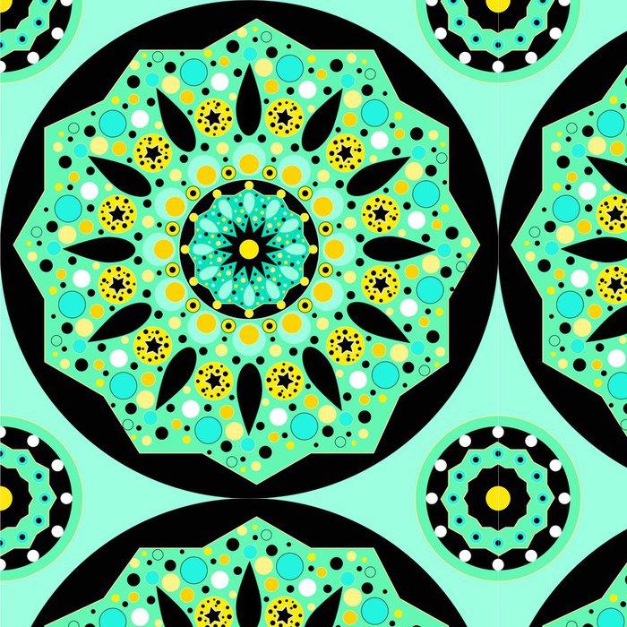 Tapeta Pixerstick Mandala bezproblémové vzor vektor - Styly