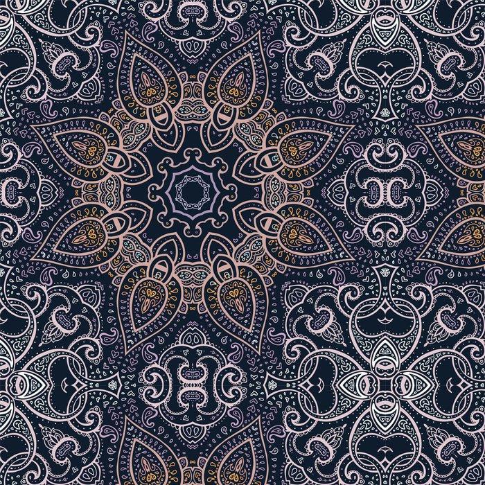 Tapeta Pixerstick Mandala. Indická dekorativní vzor. - Témata