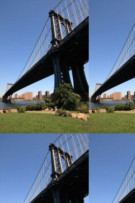 Tapeta Pixerstick Manhattan bridge - Americká města