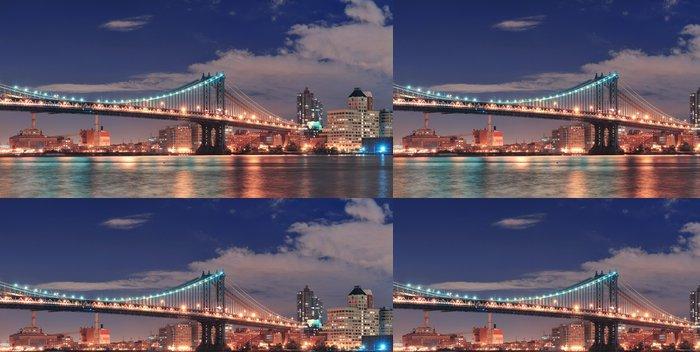 Tapeta Pixerstick Manhattan bridge - Amerika