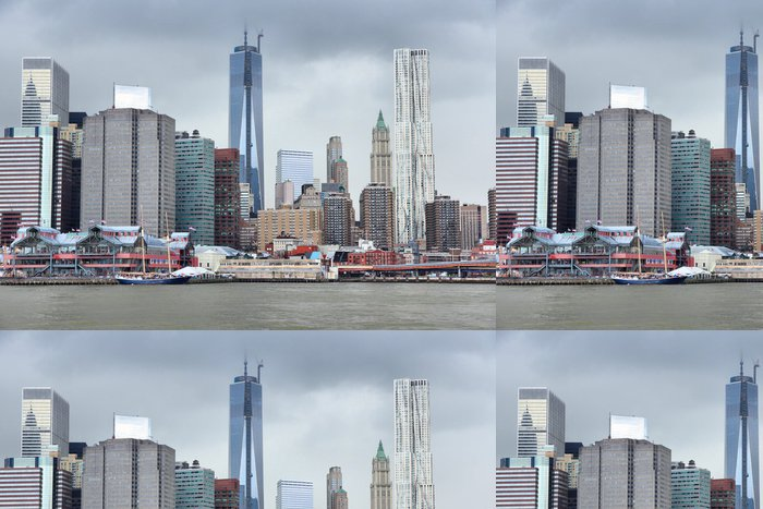 Tapeta Pixerstick Manhattan new york city - Americká města