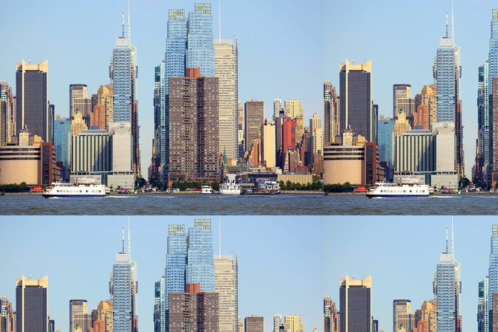 Tapeta Pixerstick Manhattan panorama podél 42. ulice, New York - Americká města