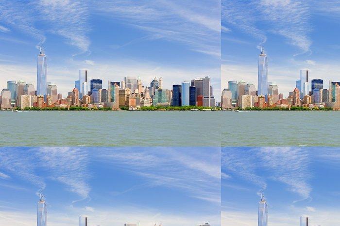 Tapeta Pixerstick Manhattan v zamračený den června - Americká města