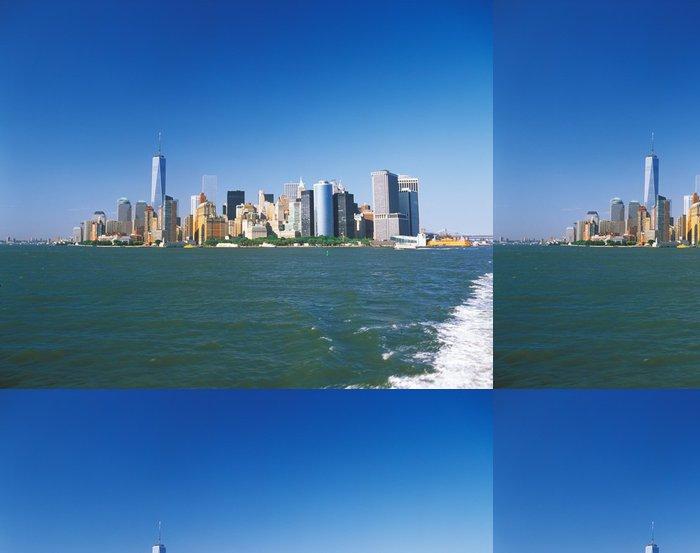 Tapeta Pixerstick Manhattan za slunečného dne. - Americká města