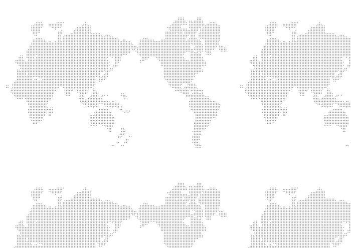 Tapeta Pixerstick Map world - Meziplanetární prostor