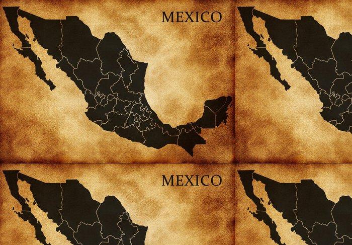 Tapeta Pixerstick Mapa Mexika - Amerika
