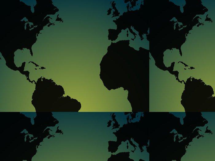 Tapeta Pixerstick Mapa světa ilustrace - Jiné