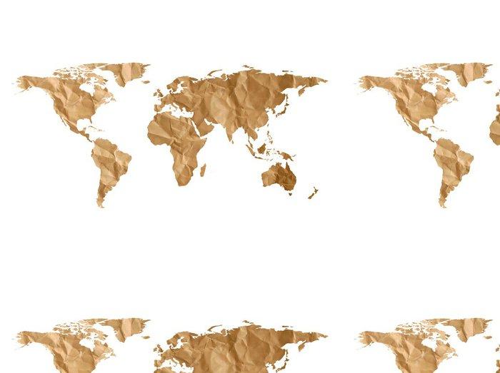 Vinylová Tapeta Mapa světa papír textury - Nálepka na stěny