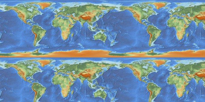 Tapeta Pixerstick Mapa světa s úlevou - Meziplanetární prostor