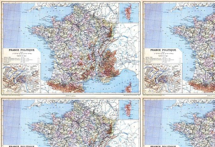 Tapeta Pixerstick MAPOVÁNÍ France Politique - Témata