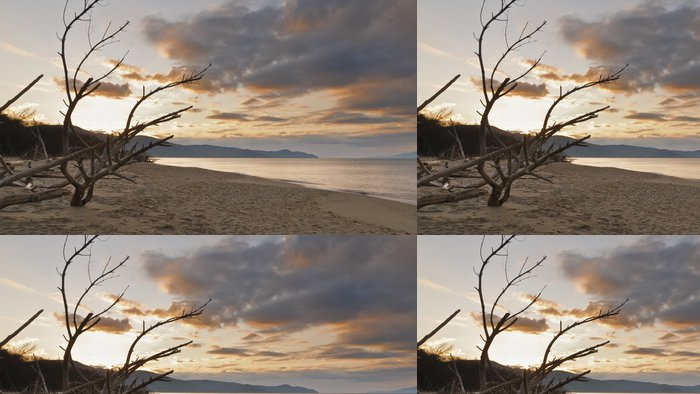 Tapeta Pixerstick Marinadi Alberese -beach - Voda
