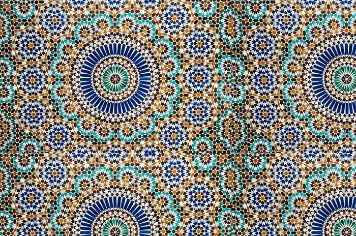 Tapeta Pixerstick Marocké vintage dlaždice na pozadí - Mozaika