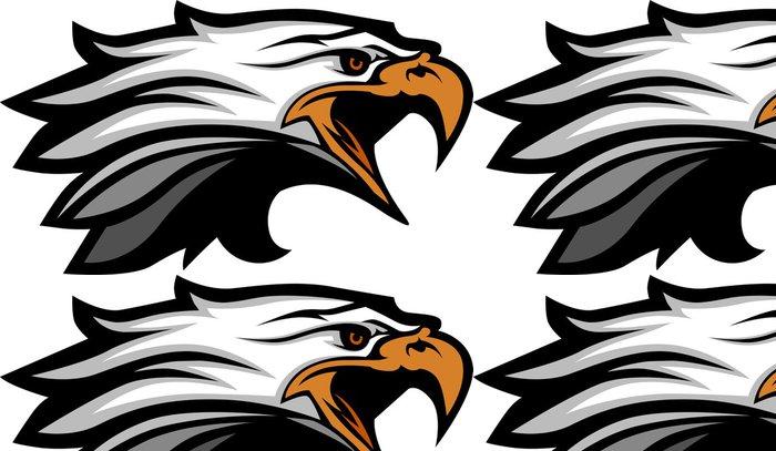 Tapeta Pixerstick Maskot vedoucí z vektorové ilustrace Eagle - Nálepka na stěny