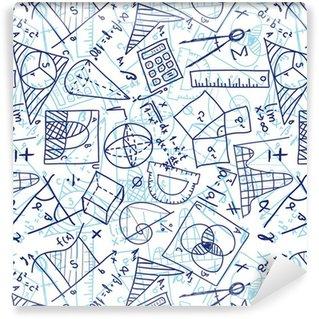 Vinylová Tapeta Matematika bezešvé vzor
