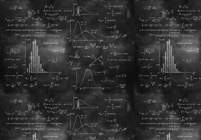 Tapeta Pixerstick Matematika, fyzika formule na tabuli - Životní styl