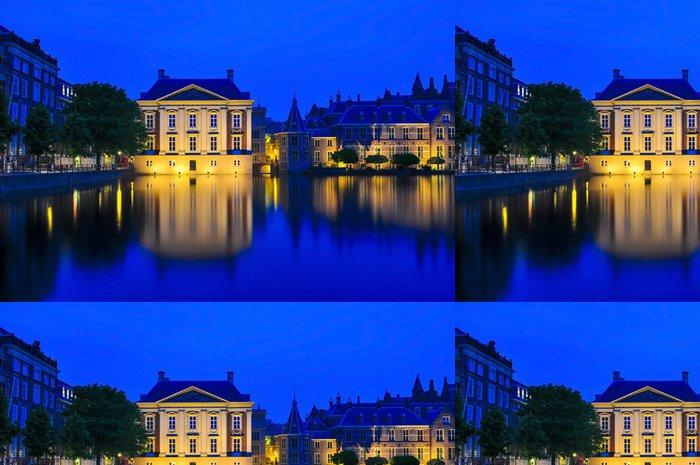 Vinylová Tapeta Mauritshuis muzeum v noci, Haag - Evropa