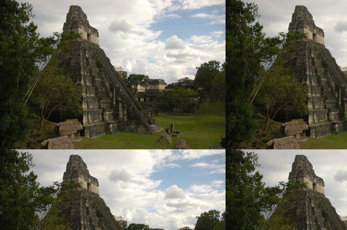 Tapeta Pixerstick Mayský chrám, Tikal - Amerika