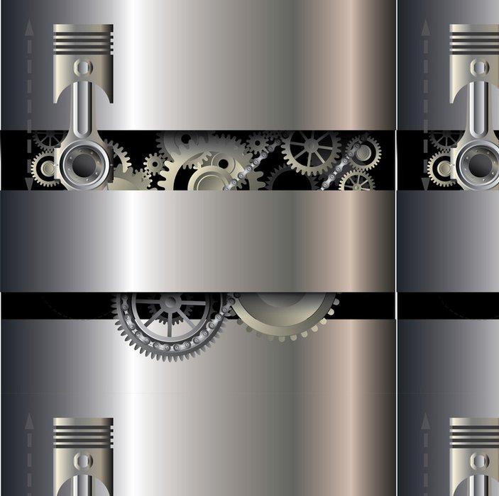 Tapeta Pixerstick Mechanické pozadí - Struktury