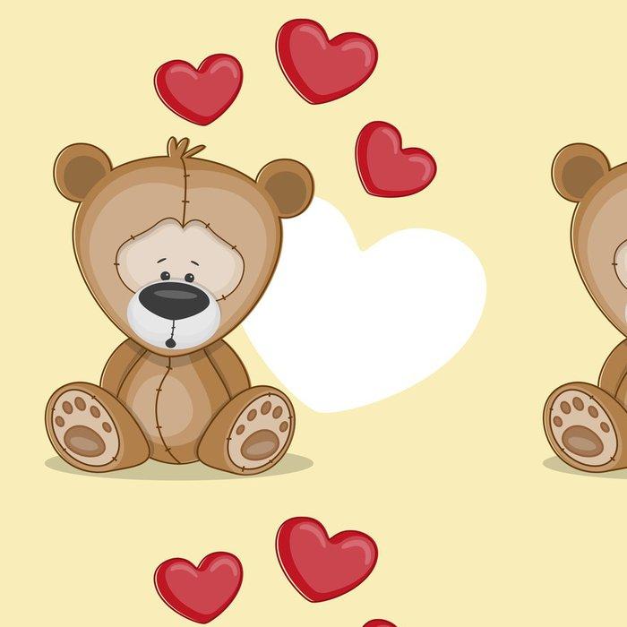 Tapeta Pixerstick Medvěd se srdcem - Pro malého