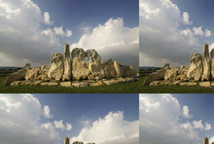 Tapeta Pixerstick Megalitické chrámy Hagar Qim, UNESCO na Maltě - Evropa