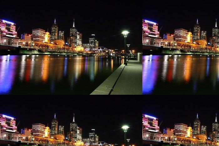 Tapeta Pixerstick Melbourne v noci - Témata