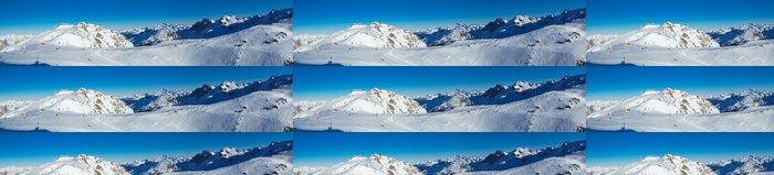 Tapeta Pixerstick Meribel a Mont Blanc panorama - Evropa
