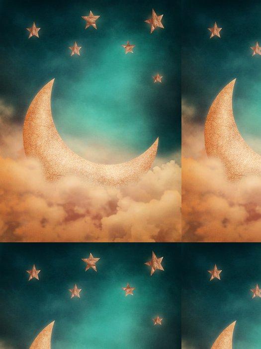 Tapeta Pixerstick Měsíc a hvězdy - Nebe