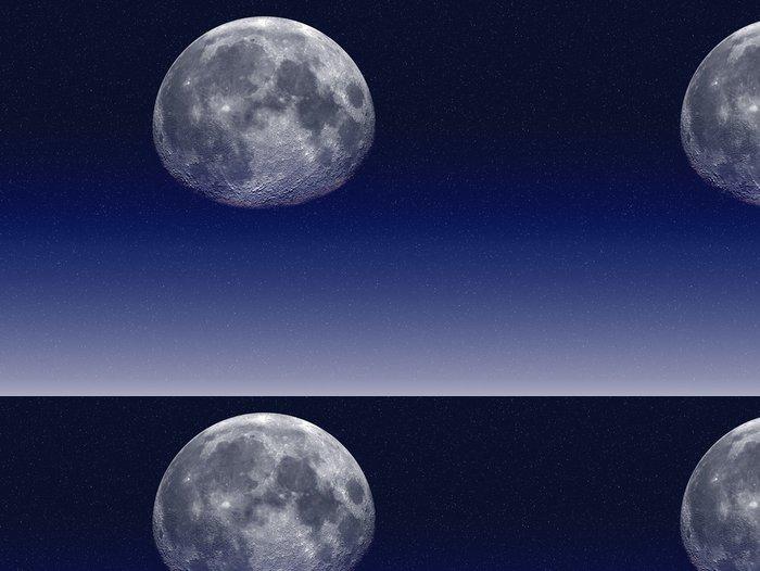 Tapeta Pixerstick Měsíc a oceány - Témata