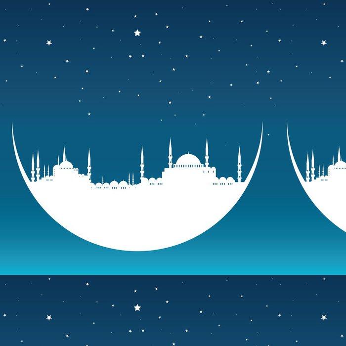 Tapeta Pixerstick Měsíc s mešitou - Střední Východ