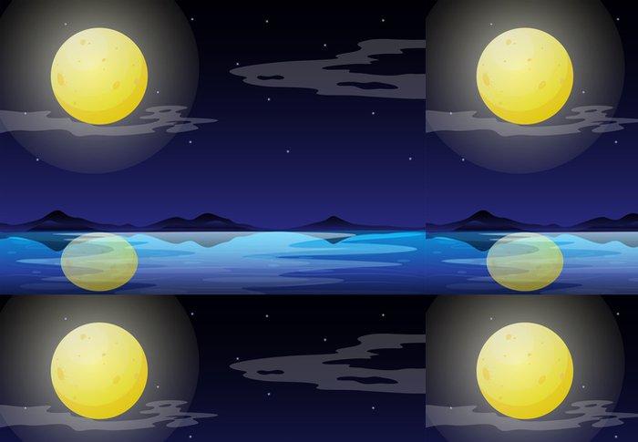 Tapeta Pixerstick Měsíční svit scenérie - Jiné
