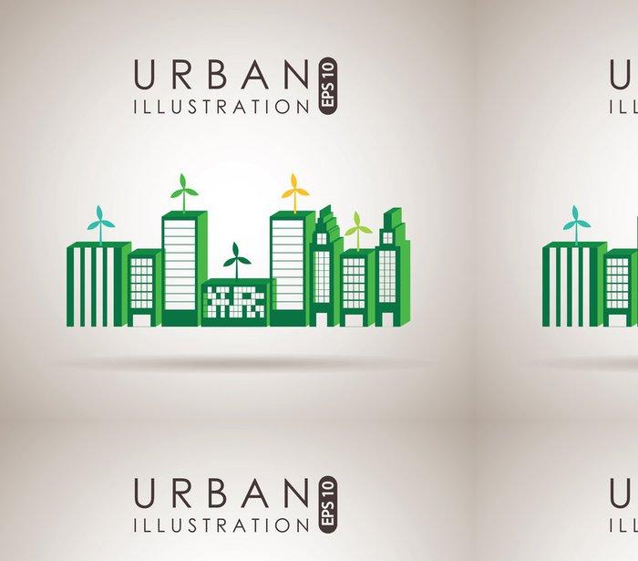 Tapeta Pixerstick Město designu - Soukromé budovy