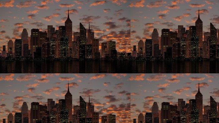 Tapeta Pixerstick Město koncept - Amerika