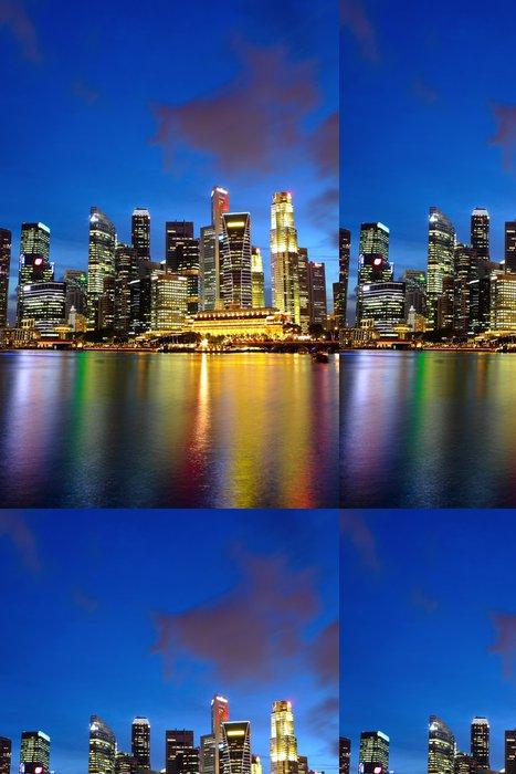 Tapeta Pixerstick Město noční pohled na Singapur - Témata