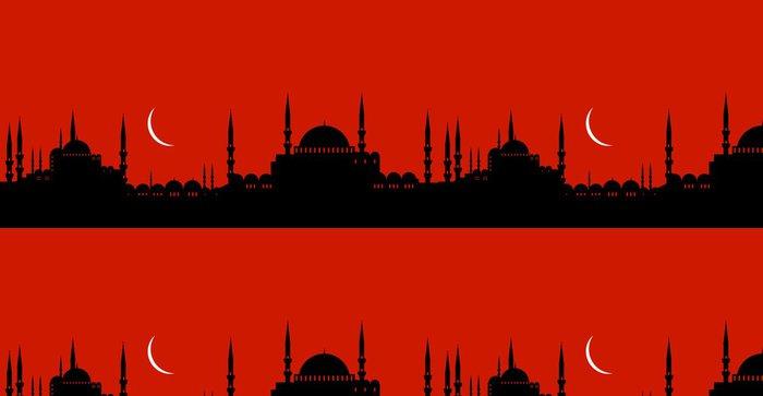 Tapeta Pixerstick Město - turecko - Střední Východ