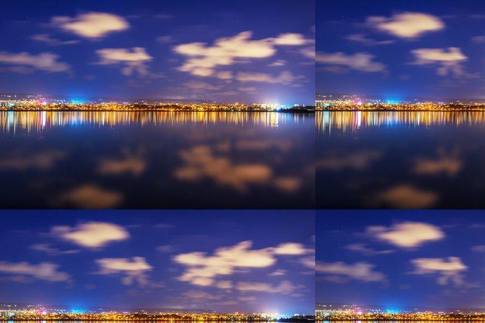 Tapeta Pixerstick Město v noci - Prázdniny