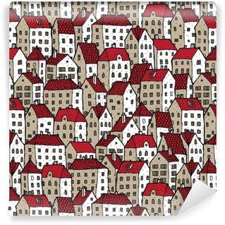 Vinylová Tapeta Městské bezešvé vzor v barvách